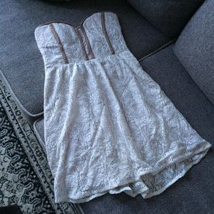 Pins and Needles (UO) Strapless Lace Dress